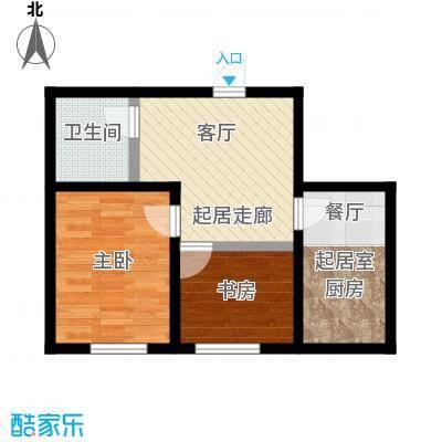 明颂华庭57.00㎡房型户型