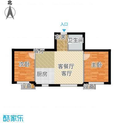 新港假日户型2室1厅1卫