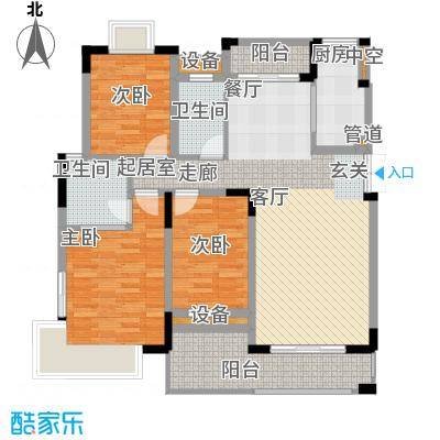 联泰香域尚城113.00㎡户型