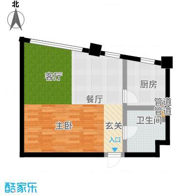 华兴彼得公寓49.51㎡户型