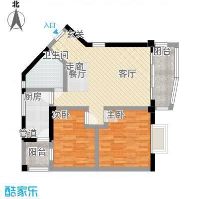 龙翔苑78.13㎡户型