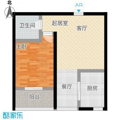 山水龙庭57.32㎡二期户型