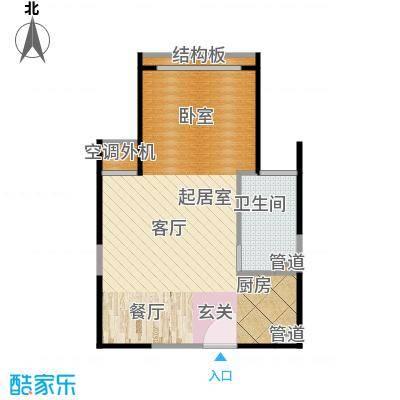 枫韵蓝湾33.24㎡户型