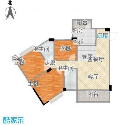 南峰时代广场户型3室1厅2卫1厨