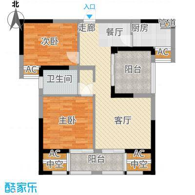 旭辉藏郡86.20㎡A3户型