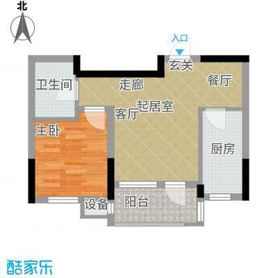 益田御水丹堤53.00㎡一居户型