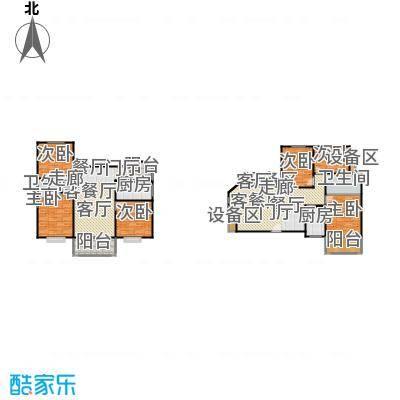 滨江美寓120.00㎡1-14-1户型