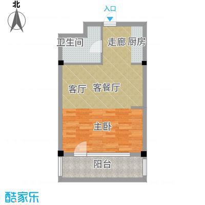 亚泰桂花苑65.00㎡迷你洋房61户型