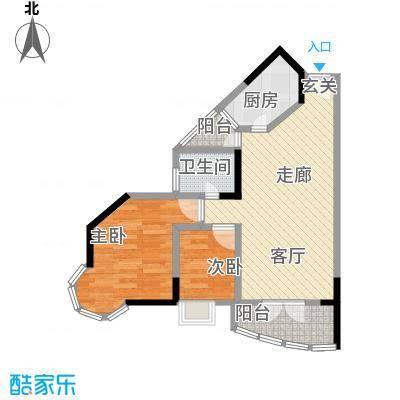 文韵江南60.91㎡房型户型