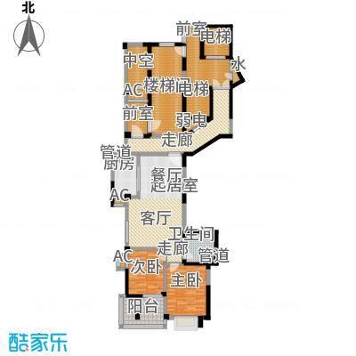 多蓝水岸85.00㎡房型户型
