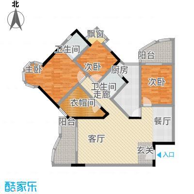 渝安龙都2005107.42㎡房型户型