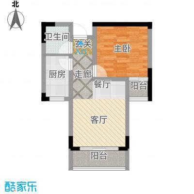 轻港佳苑43.66㎡房型户型