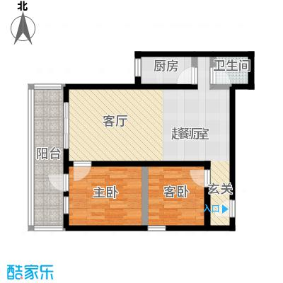 黄桷印象67.33㎡房型户型