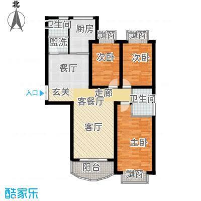 天地新城户型3室1厅2卫1厨