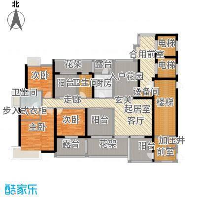 九鼎国际城公寓165.21㎡户型