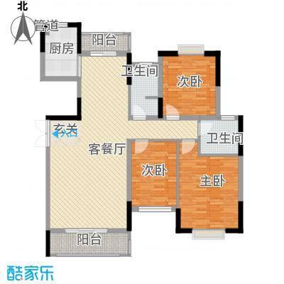 联泰香域尚城127.00㎡户型