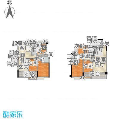 中江国际花城户型6室4卫2厨