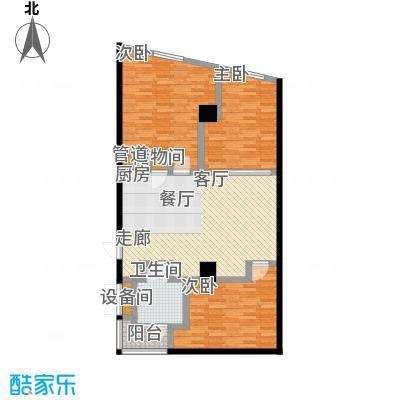 大舜天成自由城77.00㎡户型