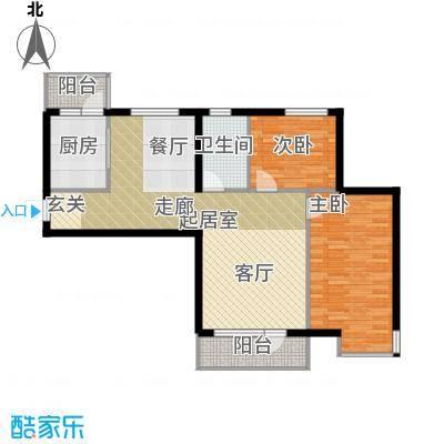 安邦百合园89.27㎡南北阳台户型