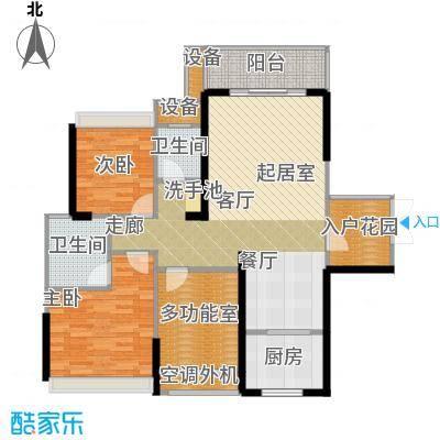 双水湾108.00㎡时尚米兰C3a户型