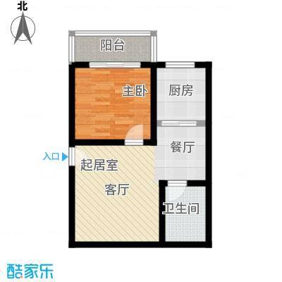 大华锦绣户型1室1卫1厨