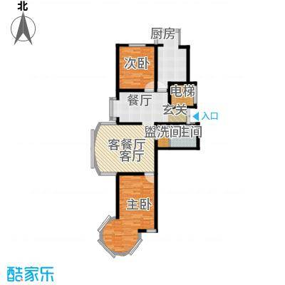 明城花园110.00㎡房型户型