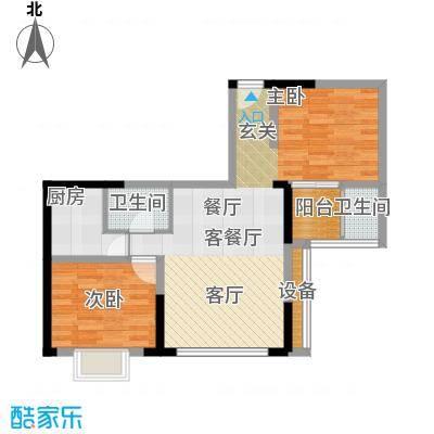 佳天・瑞宁花园88.32㎡户型