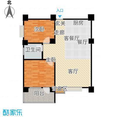 楚天馨苑80.00㎡B3户型