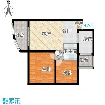 科强锦龙苑62.95㎡房型户型