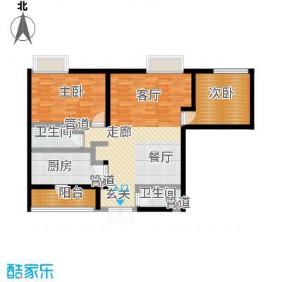 新洲阳光94.66㎡房型户型