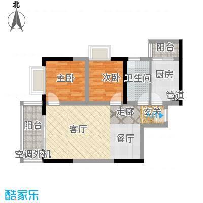 大川国际63.36㎡房型户型