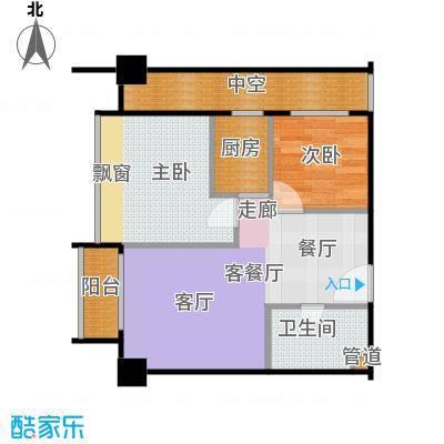 新生活摩尔城柠檬墅63.35㎡1、2号楼D户型