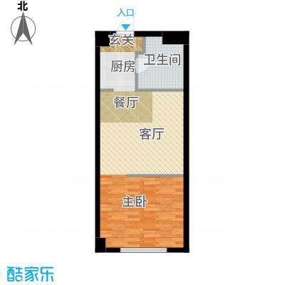 中辰国际公寓50.00㎡户型