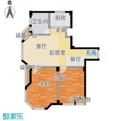 泊林映山85.18㎡B1户型
