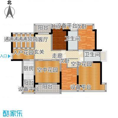 宝嘉上筑122.26㎡四阳台户型