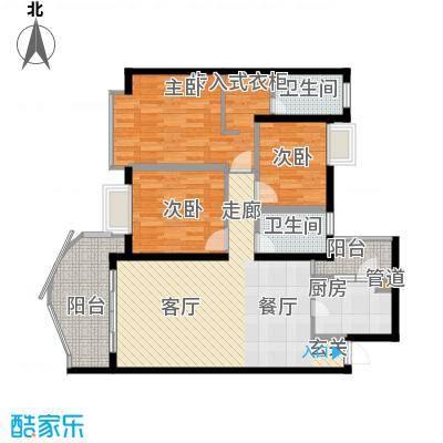 银泰新苑92.62㎡房型户型