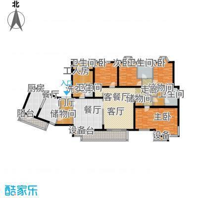 城建花园户型4室2厅4卫1厨