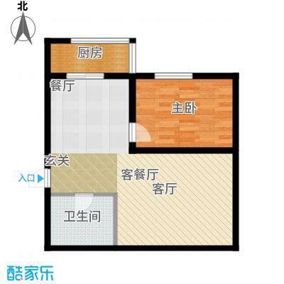 明城花园62.00㎡房型户型