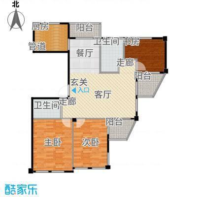 荣安和院户型3室1厅2卫1厨