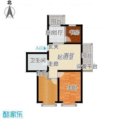 辰宇枫景瑞阁89.00㎡房型户型