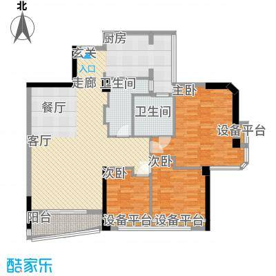 世纪广场户型3室1厅2卫