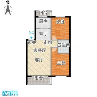 富都丽景户型2室1厅1卫1厨