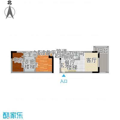 围城国际公寓113.06㎡房型户型