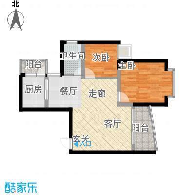 银泰新苑55.15㎡房型户型