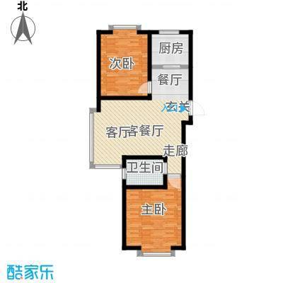 城品城户型2室1厅1卫1厨