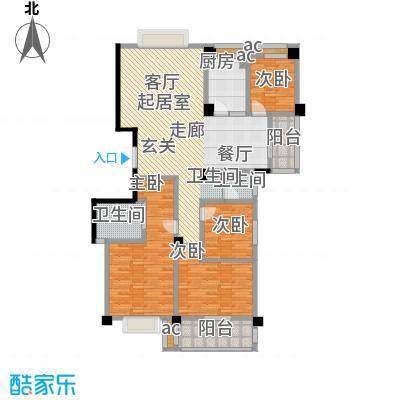 中江国际花城户型4室2卫1厨