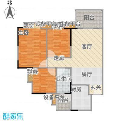 江南新苑90.96㎡F5栋18-22层04单元户型
