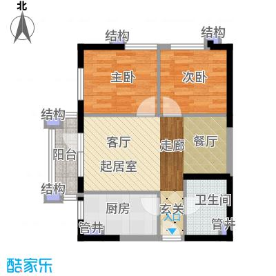 中海华庭71.00㎡精装B2户型