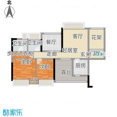 九鼎国际城公寓90.00㎡户型