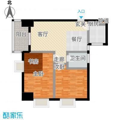 柠檬公寓84.00㎡户型